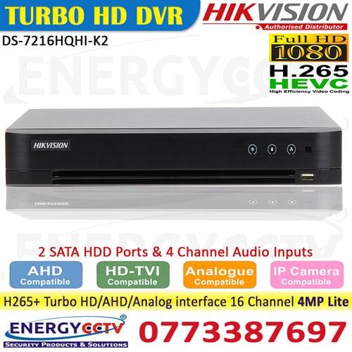DS-7216HQHI-K2 hikvision h265 dvr sale in sri lanka