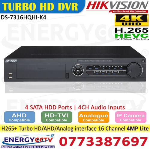 DS-7316HQHI-K4 16 channel turbo hd dvr sale in sri lanka