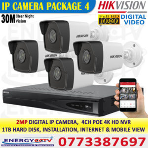 hikvision 2mp 4ch poe nvr system package sale in sri lanka price best deals