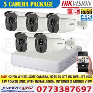 Hikvision best price 2MP-HD-PIR-WHITE-LIGHT-5-CAMERA-PKG-with-4K-lite-DVR