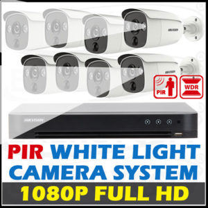 Hikvision PIR detection White Light Alarm Camera Package