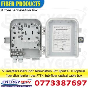 8 core Fiber Optic box, 8 core Fiber Indoor termination box,8 core Fiber Outdoor Wall Mount box, 8 Core Termination Box sale sri Lanka