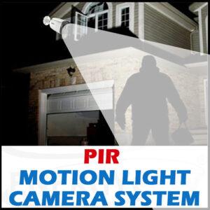 PIR Motion Sensor Light with CCTV Camera System