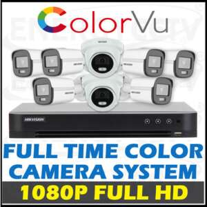 Hikvision 1080P HD Full Time Color Camera Package